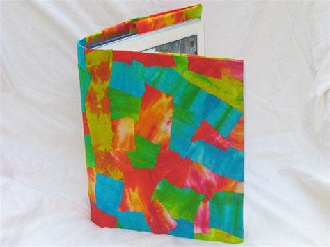 Decoupage Book Cover - decoupage tie dye book cover family crafts