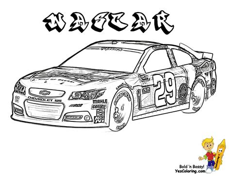 Mega Sports Car Coloring Pages Sports Cars Free Nascar Coloring Page