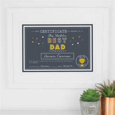 printable gift vouchers high street personalised gift for dad father s day print by paper joy