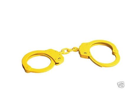 yellow handcuffs cts thompson 1010 yellow security chain link pro