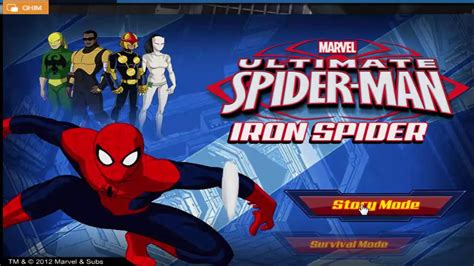 ultimate spider man iron spider spider man games