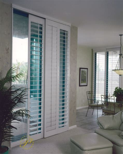 sliding glass door window shutters sunburst shutters