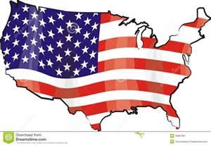 usa map and flag stock image image 35887081
