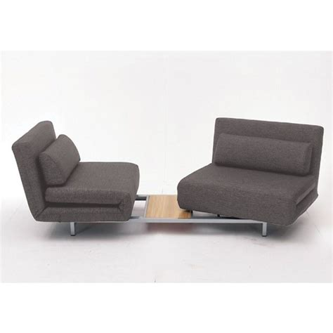 mobital iso sofa bed with 2 single swivel chairs in