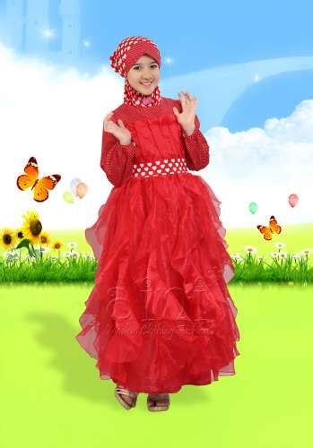 Baju Muslimah Kimi Merah baju muslim anak perempuan aini model terbaru fashion show newhairstylesformen2014
