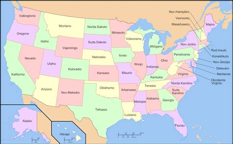 united states map map of the united states in esperanto brilliant maps