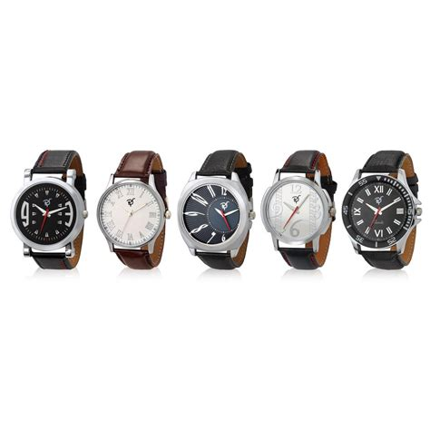 sordi set of 5 mens leather watches rsd18 s5 1 11