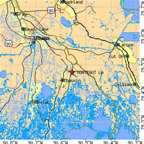 zip code map houma la montegut louisiana la population data races housing