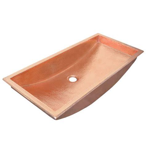 30 bathroom sink trough 30 rectangular copper bathroom sink native trails