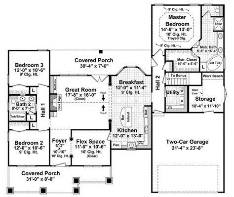 house plans under 2000 square feet bonus room bungalow style house plans 1800 square foot home 1
