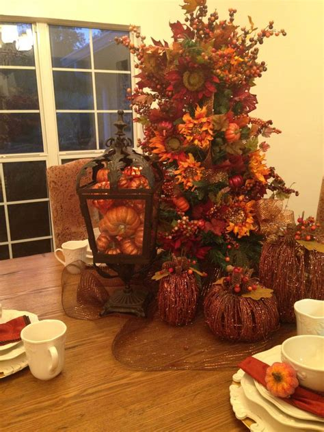 thanksgiving decorations for the home fall tree pumpkins fall decor pinterest fall