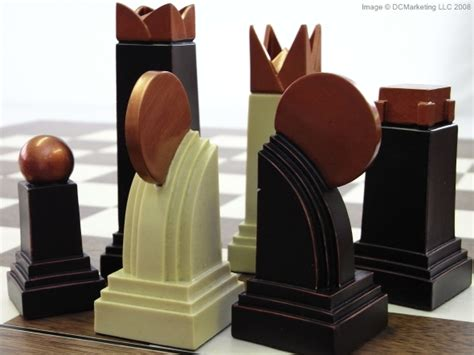 art deco chess set plain theme chess pieces chess board pieces from our