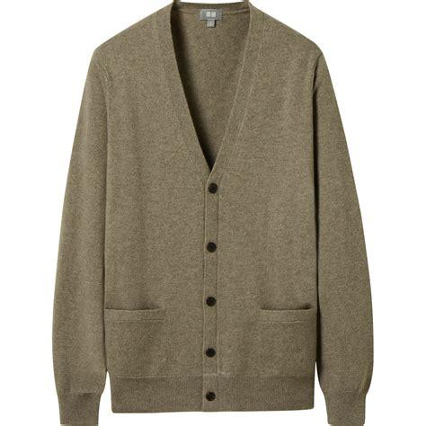 Cardigan Uniqlo Sale uniqlo v neck cardigan in brown for lyst
