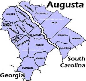where is augusta on the map map