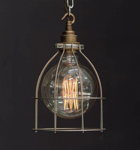 Large Industrial Pendant Lighting Es Large Cage Industrial Pendant Vintage Lighting