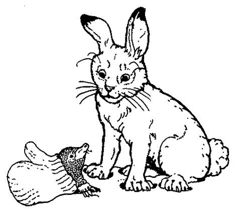 the rabbit from the mitten coloring page
