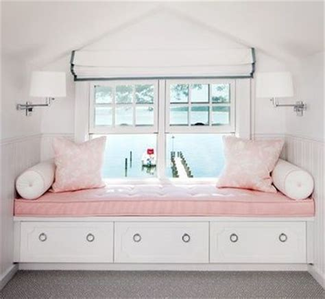 white window seat storage bench built in window seat in a pink s room white
