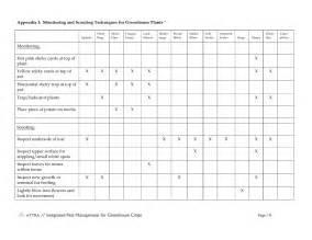 pest management plan template integrated pest management for greenhouse crops