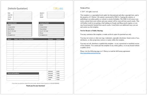 quotation template 14 quote templates for word excel