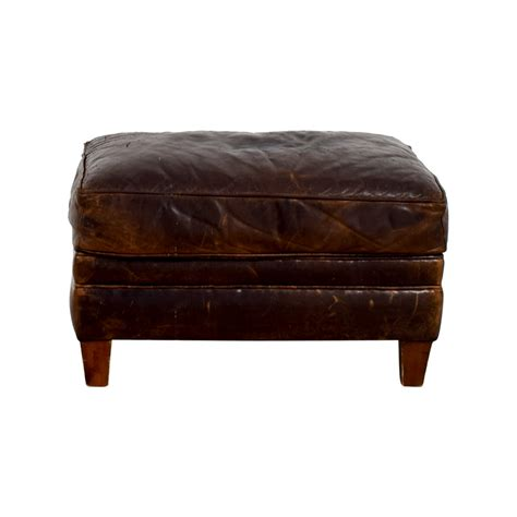 restoration hardware leather ottoman ottomans used ottomans for sale