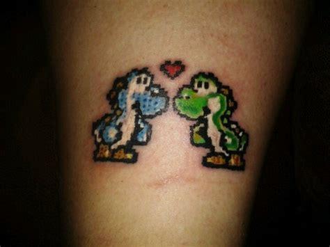 8 bit tattoo pixelated 8 bit yoshi ideas