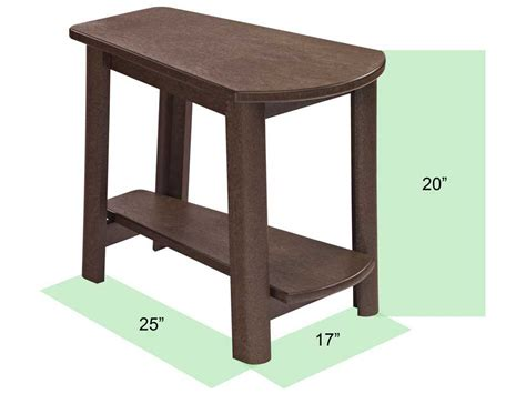 Plastic Outdoor Side Table by C R Plastic Generation Addy Side Table T04