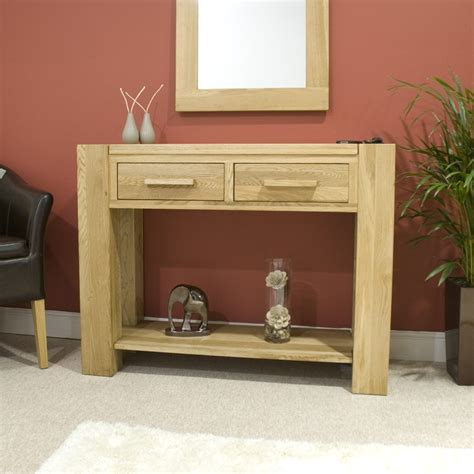 pemberton solid modern oak hallway furniture console