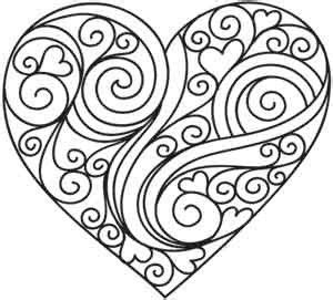 heart pattern coloring pages quilling patterns and valentines day on pinterest