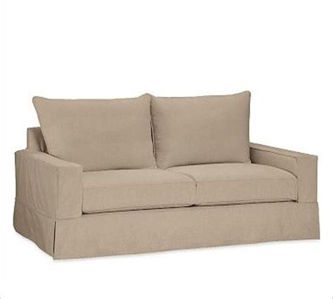 pb comfort sofa pb comfort square sofa with knife edge cushion slipcover