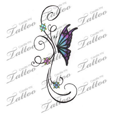 butterfly vine tattoo designs 1000 images about vine designs on the