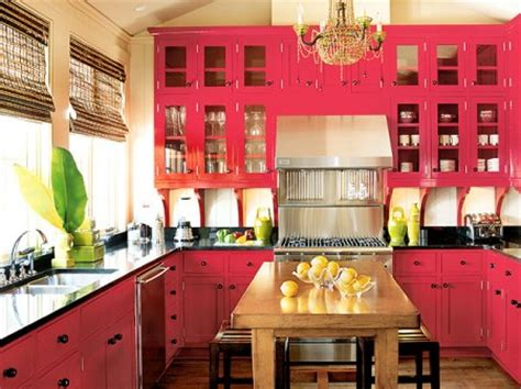 Multi Coloured Kitchen Accessories - beautifully colorful painted kitchen cabinets