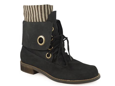 womens black ankle lace up flat boots sizes 3 8 ebay