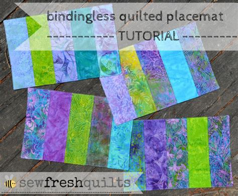 Free Easy Quilted Placemat Patterns by Sew Fresh Quilts Bindingless Quilted Placemats A Tutorial
