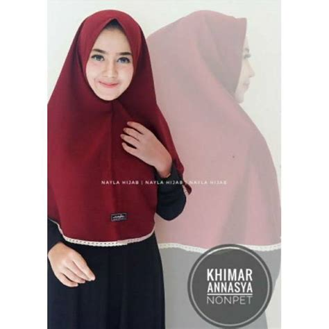 Jilbab Khimar Pet Simple terlaris khimar annasya nonpet jilbab khimar simple