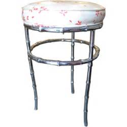 Vanity Stool Nickel Nickel Plated Faux Bamboo Vanity Stool At 1stdibs
