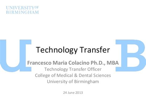 Central College 5 Mba Program Transfer by What Is Technology Transfer