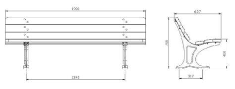 misure panchina panchina in legno e ghisa dcolonia