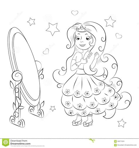 sweet princess coloring book stock vector image 59071524