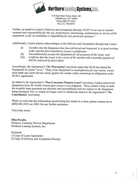 Complaint Letter To Leasing Company Northern Leasing Responds To Bbb Complaint Jan 2016 Northern Leasing Scam