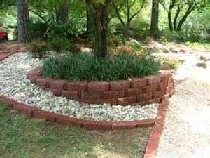 landscaping around a fire pit retaining walls flagstone concrete patio stone steps stack