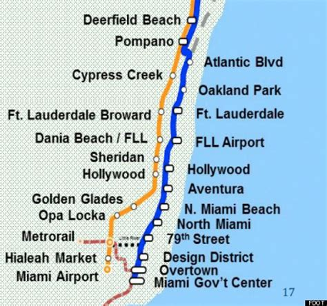tri rail map downtown miami on track for expanded commuter rail service by 2014 investinmiami
