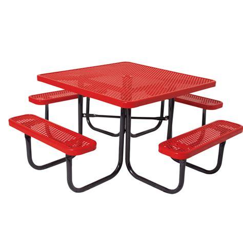 ship picnic table square thermoplastic picnic table