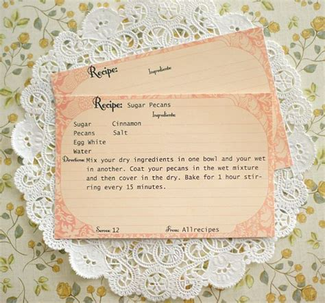 Free Retro Recipe Card Templates by 17 Best Images About Recipe Cards On Printable