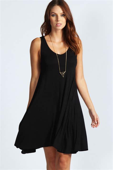 neck swing dress boohoo liz sleeveless v neck swing dress ebay