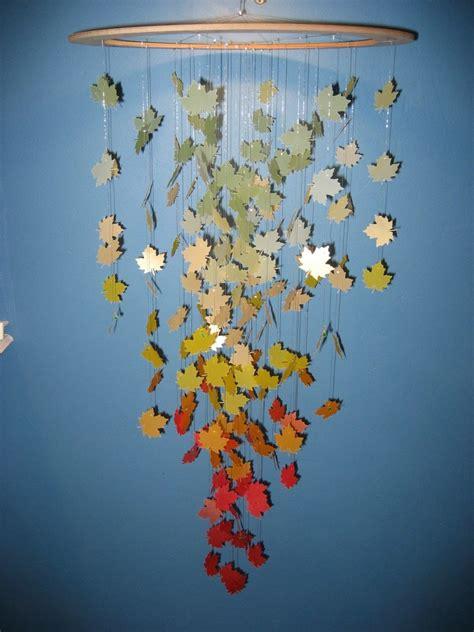 autumn leaves paper mobile celebrating autumn
