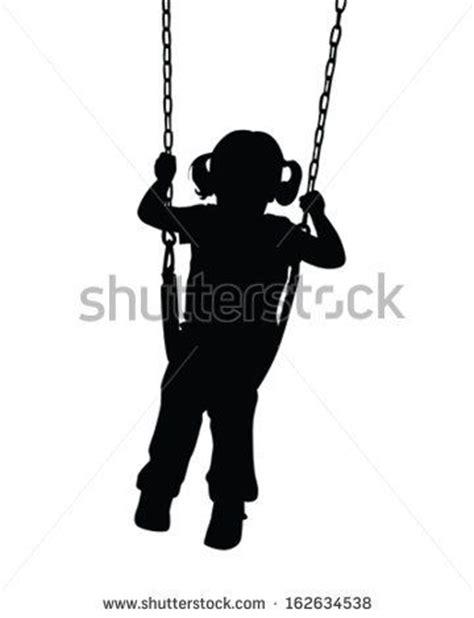 girl on swing silhouette girl on swing silhouette stitchery pinterest