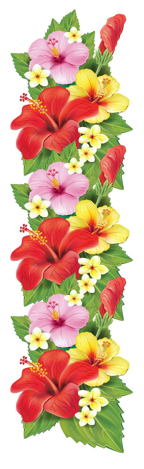flowers decor exotic flowers decoration png clipart pinteres