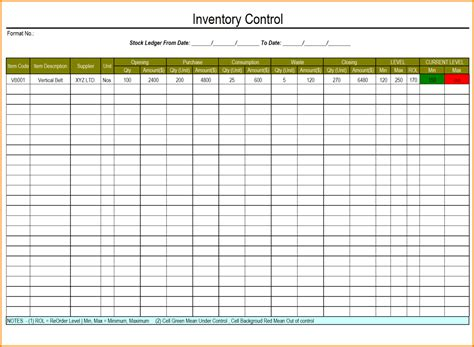Inventory Excel Template by Excel Inventory Template With Formulas 1 Inventory