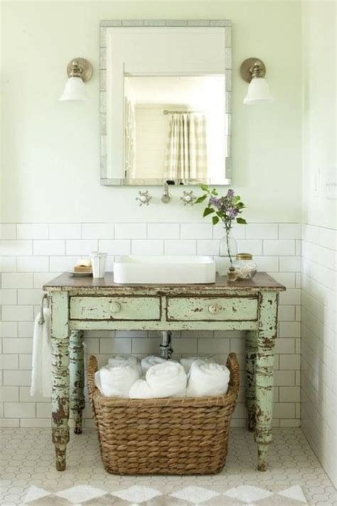 rustic bathroom ideas for the house laundry folding tables half painted walls