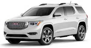 gmc acadia colors 2017 gmc acadia winnipeg acadia details safety specs